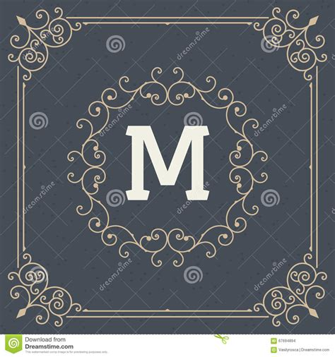 Vintage Ornament Frame Set Vector Template Retro Wedding