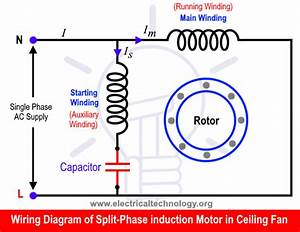 Electric Fan Wiring Diagrams Single Phase Motor