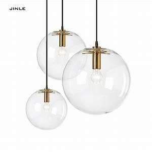 2017 Suspension Luminaire En Verre Design Lustre Minmalist