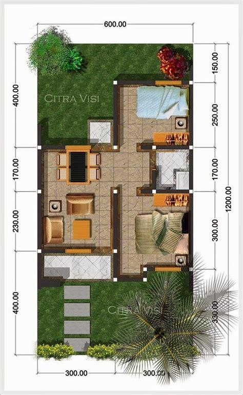 denah rumah minimalis tipe  ukuran    anderson