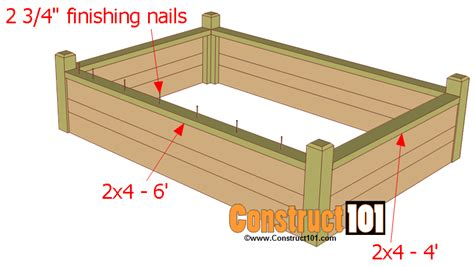 raised garden bed plans raised garden bed plans with bench construct101