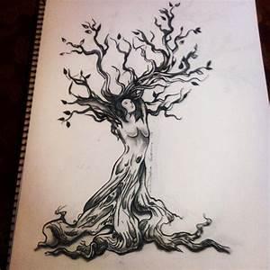Tatouage Symbole Vie : dessin tatouage symboles arbre avec femme ~ Melissatoandfro.com Idées de Décoration