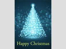 Glowing Christmas Tree Card Birthday & Greeting Cards by