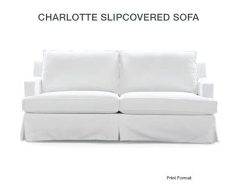 Mitchell Gold Slipcovers by Creative Home Expressions Hooked On White Slipcovers