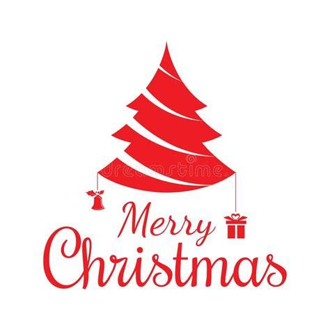 silueta de árbol de navidad silueta roja texto y 225 rbol de navidad de la feliz navidad ilustraci 243 n vector imagen 78887242