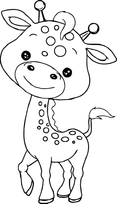 awesome baby jungle  animal coloring page zoo animal