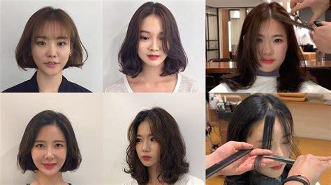 easy cute korean haircuts    cut bangs hair
