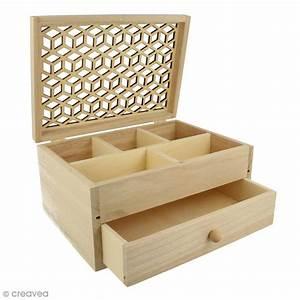 Boite A Bijoux : bo te bijoux en bois motif ajour 19 8 x 15 cm boite bijoux d corer creavea ~ Teatrodelosmanantiales.com Idées de Décoration