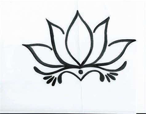 simple lotus tattoos pictures