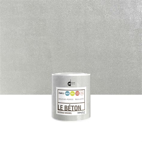 peinture 224 effet le b 233 ton maison deco paillet 233 0 5 l leroy merlin