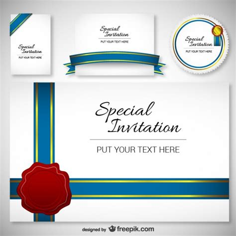 invitation design template best design invitation card template vector free