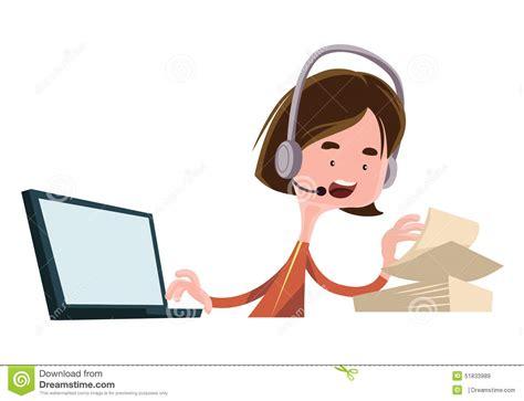 employ馥 de bureau personnage de dessin animé parlant d 39 illustration des employés du travail d 39 employé de bureau illustration stock image 51833989