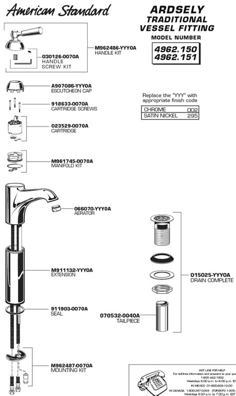 american standard shower faucet parts diagram typical