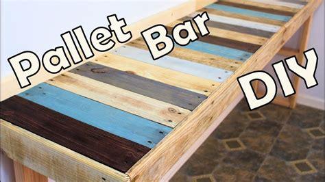 diy kitchen pallet bar table youtube