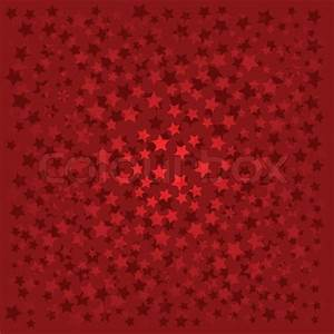Abstract background with red stars on red Stock Vector