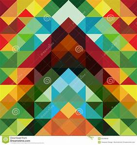 Abstract Colorful Triangle Pattern Background Royalty Free ...