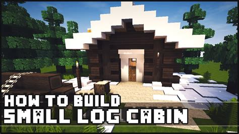 minecraft   build simple small log cabin youtube