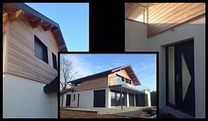 maison bardage acier maison de sant la loupe bardage With couleur gris anthracite peinture 11 toit plat bac acier