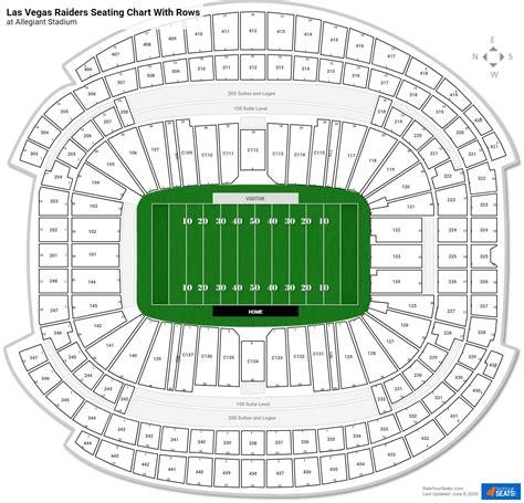 las vegas raiders seating charts  allegiant stadium