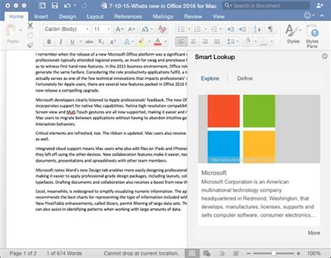 Intriguing New Features In Microsoft Word 2016 For Mac