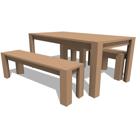 pch series bench dining table 10380 2 00 revit