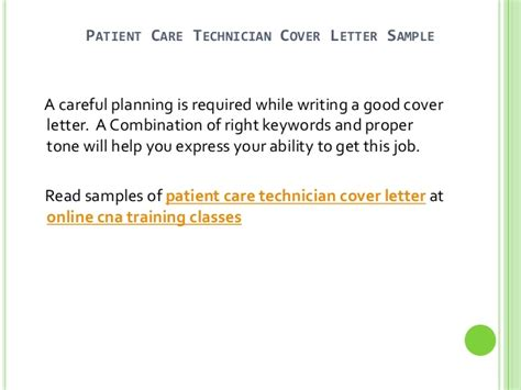 carer cover letter no experience patient care technician cover letter no experience