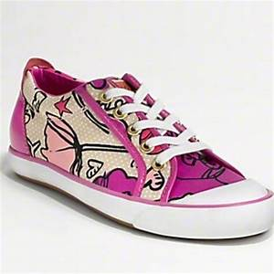 70% off Coach Shoes - Coach Barrett Poppy Pink Sneakers ...