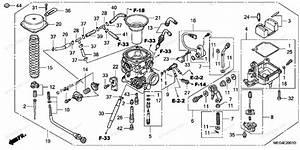 Honda Motorcycle 2005 Oem Parts Diagram For Carburetor  Ac