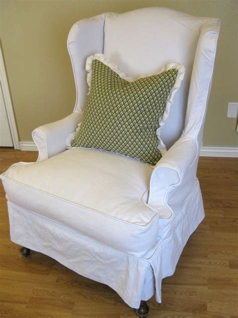 slipcovers for wingback chairs wing chair slipcover white jen joes design wing