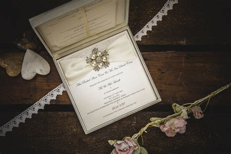 Diamonds and Pearls Wedding Invitations by No9 Designs