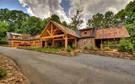 blue mountain cottage mountain lakefront log cabins homes for sale