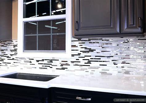 white mosaic tile backsplash black and white tile backsplash black white tile with