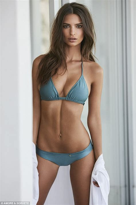 Emily Ratajkowski wears a range of skimpy bikinis as she ...