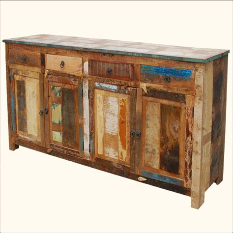 Refurbished Barn Wood Furniture by Distressed Buffet Sideboard Weathered Rustic Reclaimed