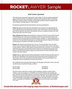 joint venture agreement template joint venture contract With jv agreement template free
