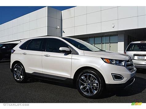 ford edge titanium 2016 white platinum ford edge titanium 111389299