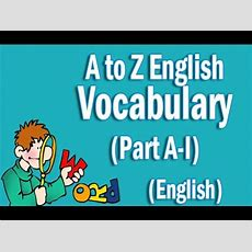 A To Z English Vocabulary Words With Meaning In English  Part Ai Youtube