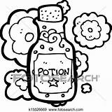 Potion Bottle Clip Cartoon Clipart Vector Fotosearch Magic Illustration Template Drawings Eps Coloring Graphics Posters Gograph Csp994 sketch template