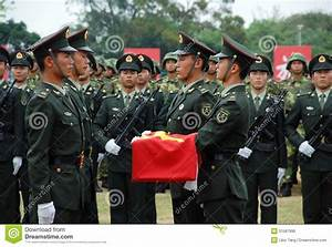 Chinese Army In Hong Kong Garrison Editorial Image ...