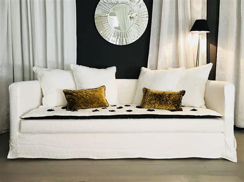 canapé sur mesure en ligne canapé kool en froissé blanc realisations mobilier sur