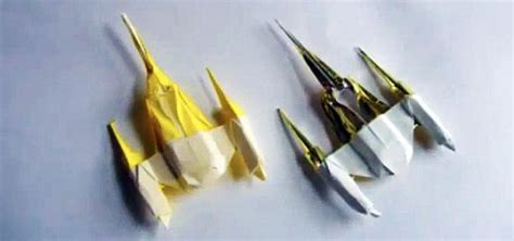 folding reality how to fold an origami naboo starfighter other wars