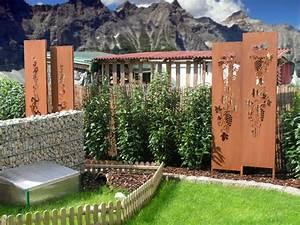 Garten Trennwand Holz : sichtschutz garten holz metall kunstrasen garten ~ Sanjose-hotels-ca.com Haus und Dekorationen