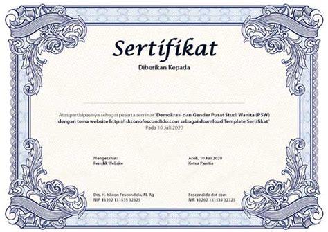 template sertifikat gratis format psd jpg