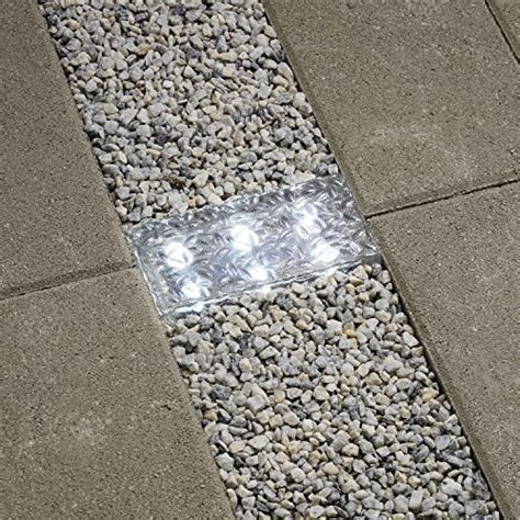 solar brick lights 8x4 cool white solar brick with 6 leds frosted glass