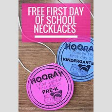 Free First Day Of School Necklaces (editable)  Teach Junkie