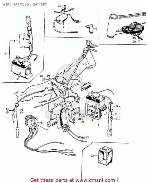 honda s90 1964 usa wire harness battery