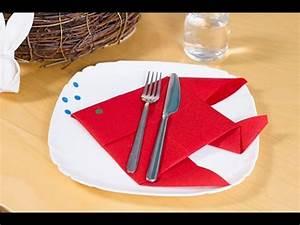 Pliage Serviette Youtube : diy pliage de serviette en poisson pour p ques ou le 1er avril youtube ~ Medecine-chirurgie-esthetiques.com Avis de Voitures