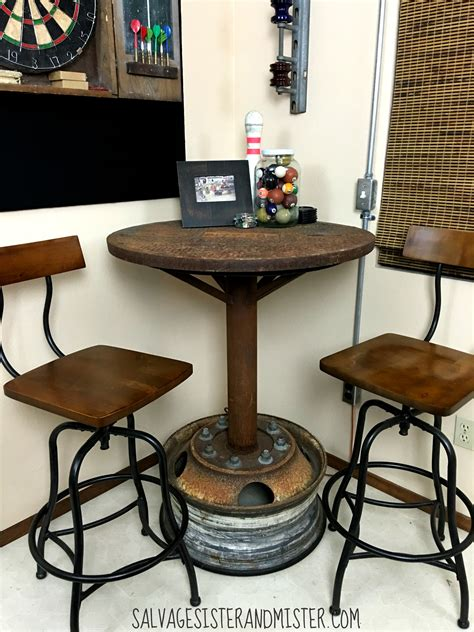 bistro bar stools industrial bar table room orc salvage and