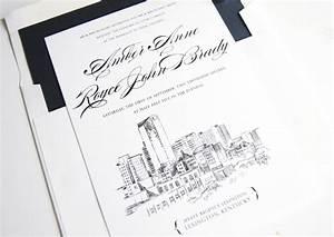 lexington kentucky skyline wedding invitations With wedding invitations lexington ky