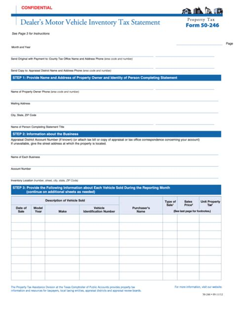 fillable form   dealers motor vehicle inventory